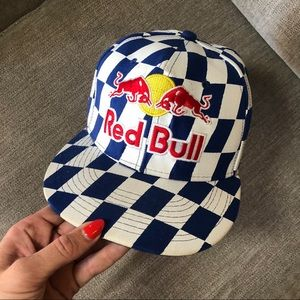 """Red Bull checkered athletes only hat 7 1/4"""""""